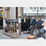 <交通事故>車が歩道に突っ込む、3人心肺停止 大阪駅近く